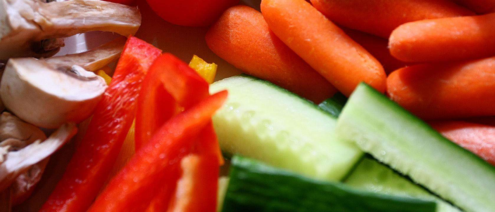 Cut up vegetables